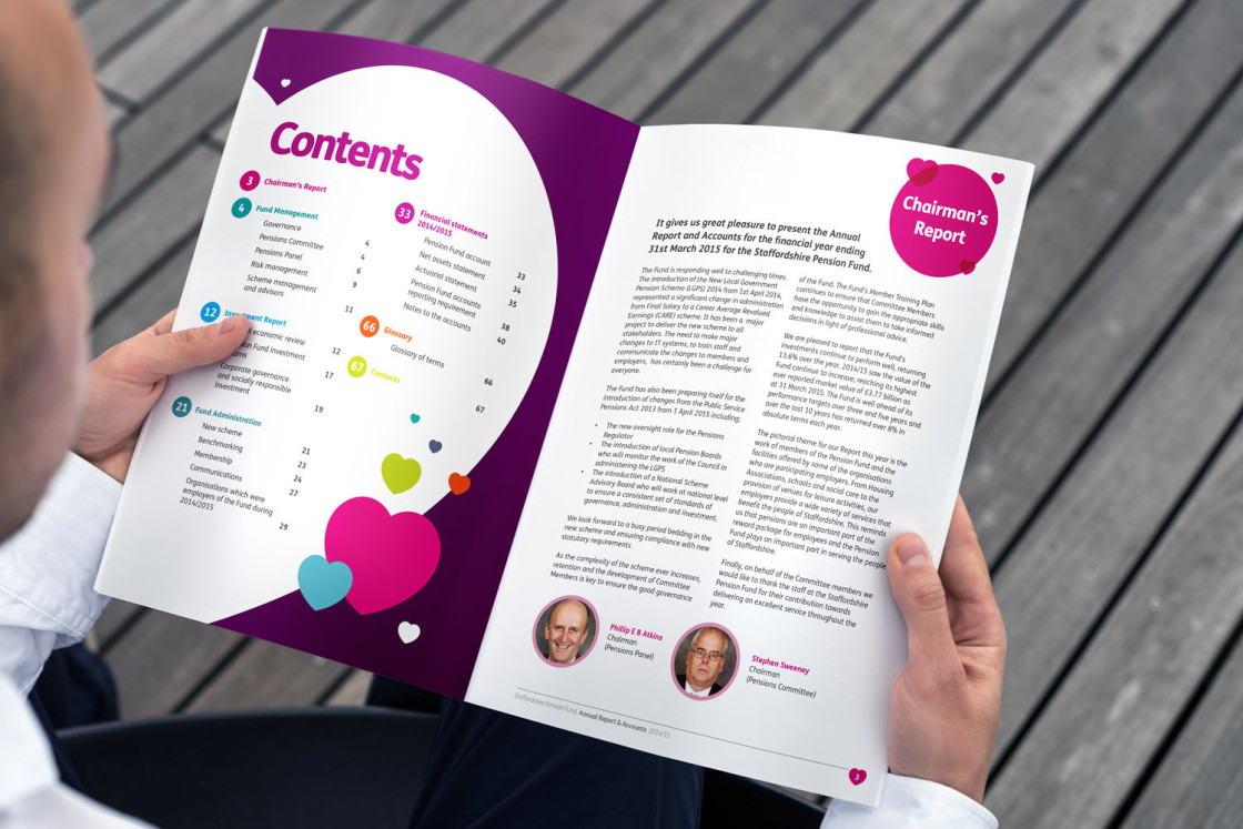 annual reports uk design agency